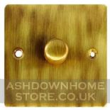 Flat Plate Antique Bronze Dimmer Switches